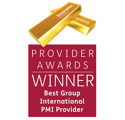 Health Insurance Awards 2018 Provider Awards - Best Group International PMI Provider Graphic