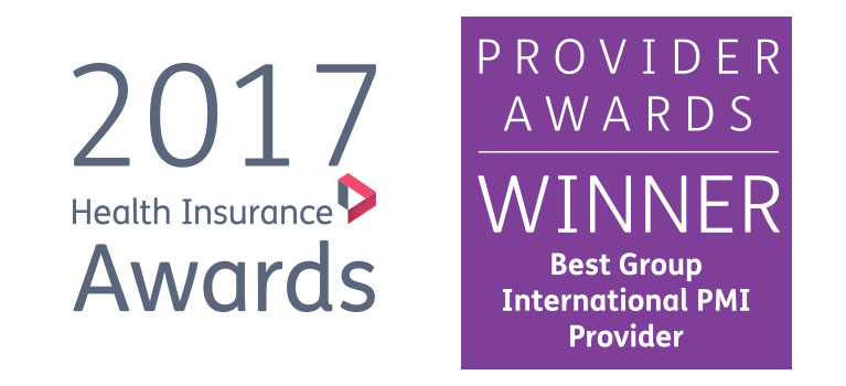 Winner Aetna International for Best Group International PMI Provider from the 2017 Health Insurance Awards