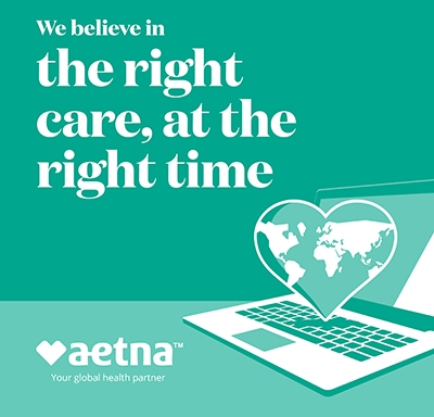 EMEA social media ad promoting Aetna's