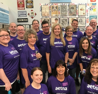 Aetna International group at faith-based forum Clean the World event in Orlando, FL