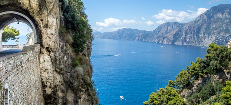 Breathtaking view of the Amalfi Coast, Italy