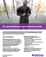 eat, move and think your way to better heart health flyer