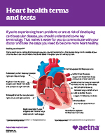 heart health terms and tests flyer