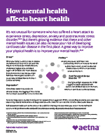 how mental health affects heart health flyer