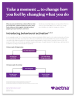 Take a moment to change how you feel by changing what you do flyer